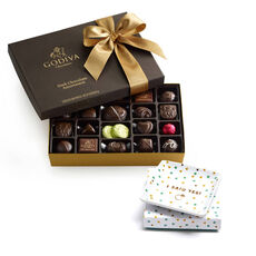 I Said Yes Square Tray & Dark Chocolate Assortment Gift Box, 27 pc.
