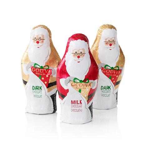 Chocolate Foil-Wrapped Santas (Set of 3)