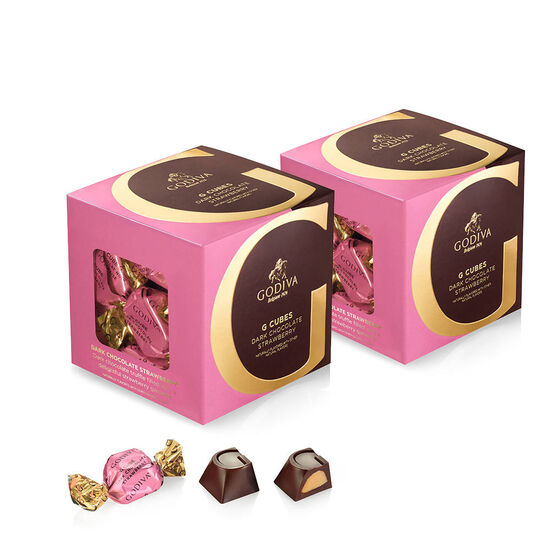 Dark Chocolate Strawberry G Cube Box, Set of 2, 22 pcs. each image number null