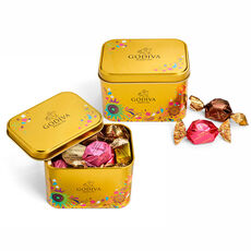 Chocolate Festival Assorted G Cube Tins, Set of 2, 15 pc each