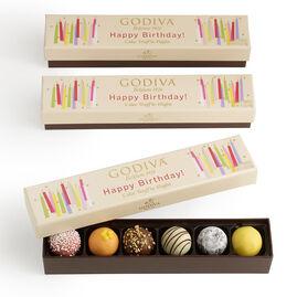 Happy Birthday Cake Chocolate Truffle Flight, Set of 3