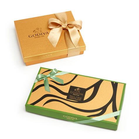 Assorted Chocolate Gold Icons Gift Box 18 pc. & Assorted Chocolate Gold Gift Box 19 pc.