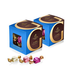 Dark Chocolate Assortment G Cube Box, Set of 2, 22 pcs. each