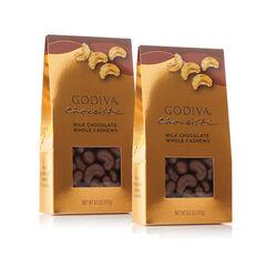 Milk Chocolate Covered Whole Cashews, Set Of 2, 8.5 oz. each