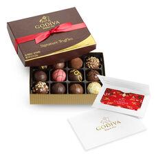 $100 GODIVA Holiday Gift Card & Signature Chocolate Truffles, 12 pc.