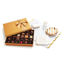Let's Celebrate Entertaining Set with Gold Gift Box, 36 pc