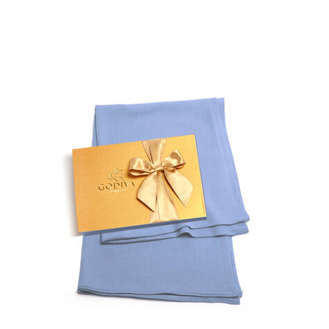 Periwinkle Shawl with Assorted Chocolate Gold Gift Box, 36 pc.