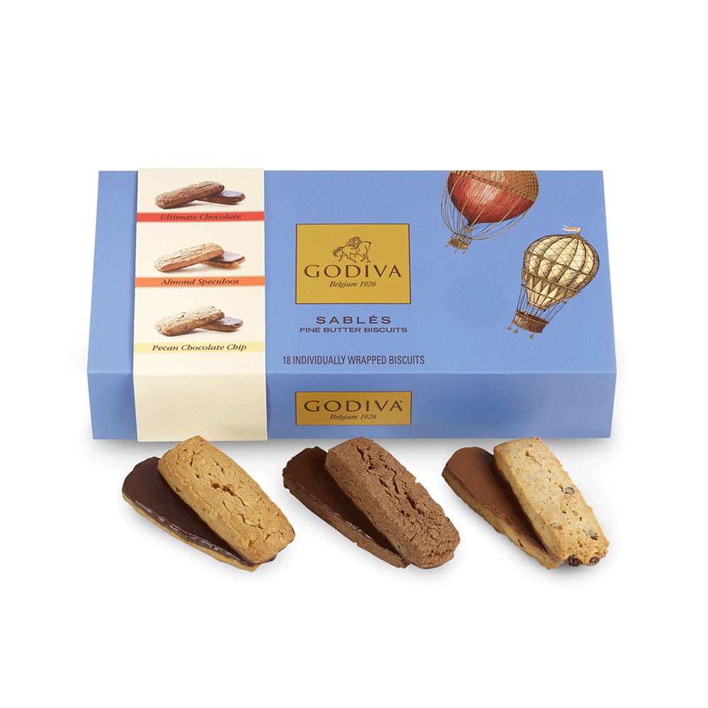 Assorted Sablés Gift Box, Wrapped, 18 pc.
