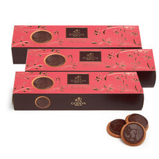 Lady Noir Chocolate Biscuits, Set of 3, 12 pc each
