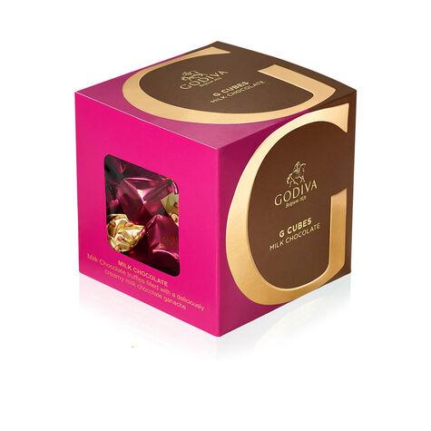 Classic Milk Chocolate G Cube Box, 22 pcs.