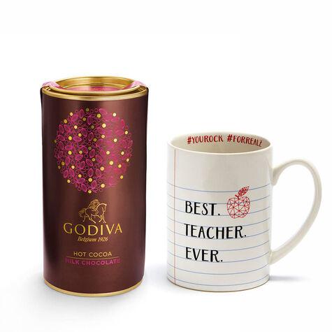 Teacher Mug with Milk Chocolate Hot Cocoa