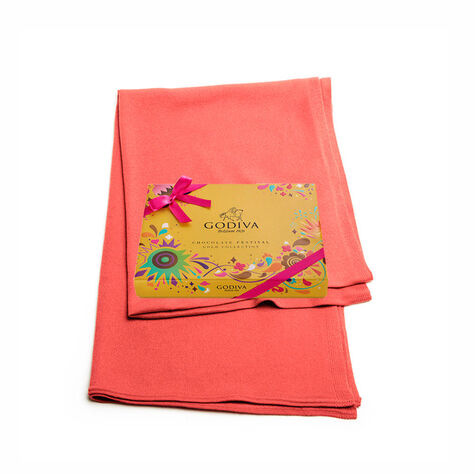 Coral Shawl with Chocolate Festival Gold Gift Box, 18 pc.