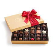 Assorted Chocolate Gold Gift Box, Red Ribbon, 36 pc.