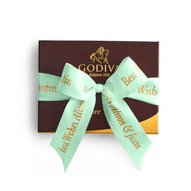 Signature Truffles Gift Box, Personalized Sage Ribbon, 12 pc.