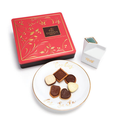 Cookies For Santa Tray with Assorted Chocolate Biscuit Tin, 46 pc.