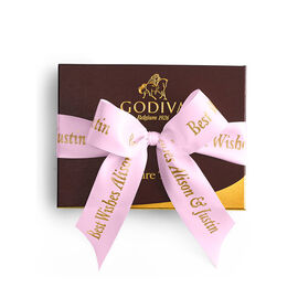 Signature Truffles Gift Box, Personalized Pink Ribbon, 12 pc.