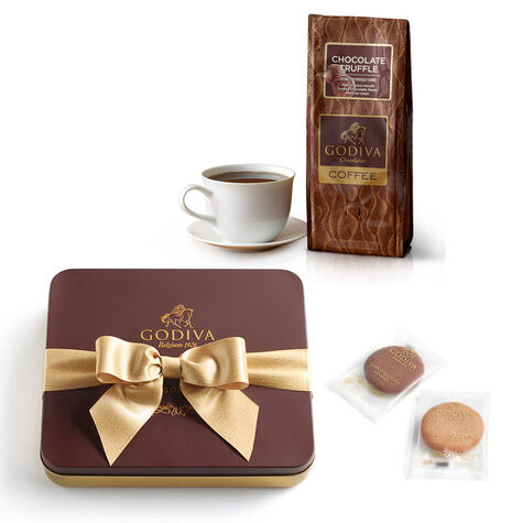 Chocolate Cookies and Coffee Gift Set