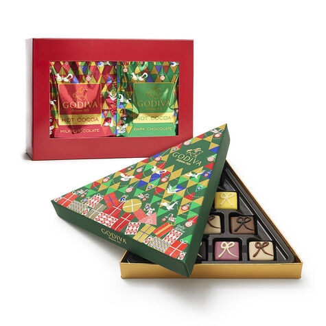 Cocoa Variety Pack & Limited Edition Petit Four Gift Box, 10 pc.