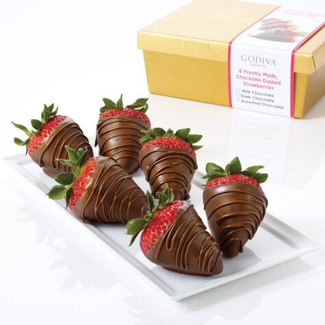 Milk Chocolate Covered Strawberries, Half Dozen