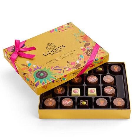 Chocolate Festival Gift Box, 18 pc & Chocolate Festival Assorted G Cube Tin, 15 pc.