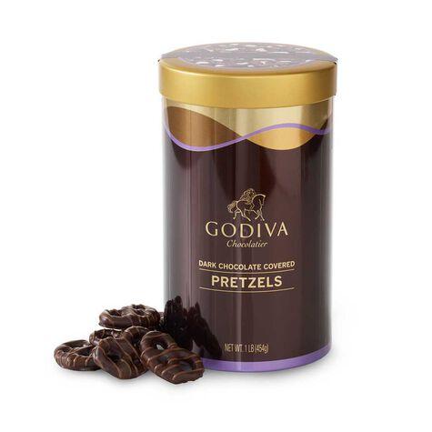 Dark Chocolate Covered Pretzel Canister, 1 lb.