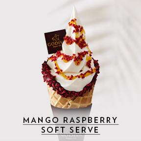 Mango Raspberry Cone