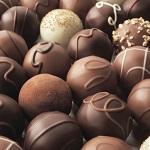 Milk, dark and white chocolate truffles