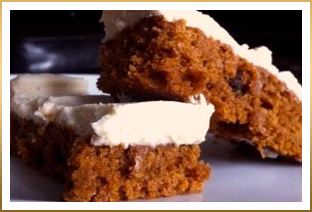 Pumpkin Squares with GODIVA White Chocolate Cream Cheese Frosting