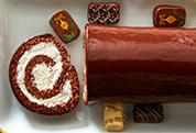 chocolate christmas yule log cake - Christmas Yule Log Cake