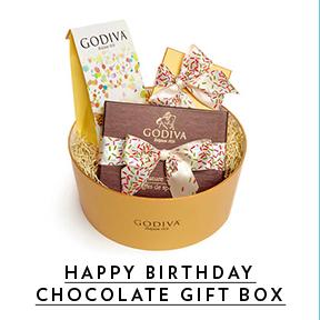 Birthday cake truffles, signature truffles and gold gift box