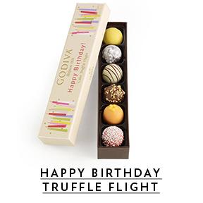 Birthday cake truffle flight