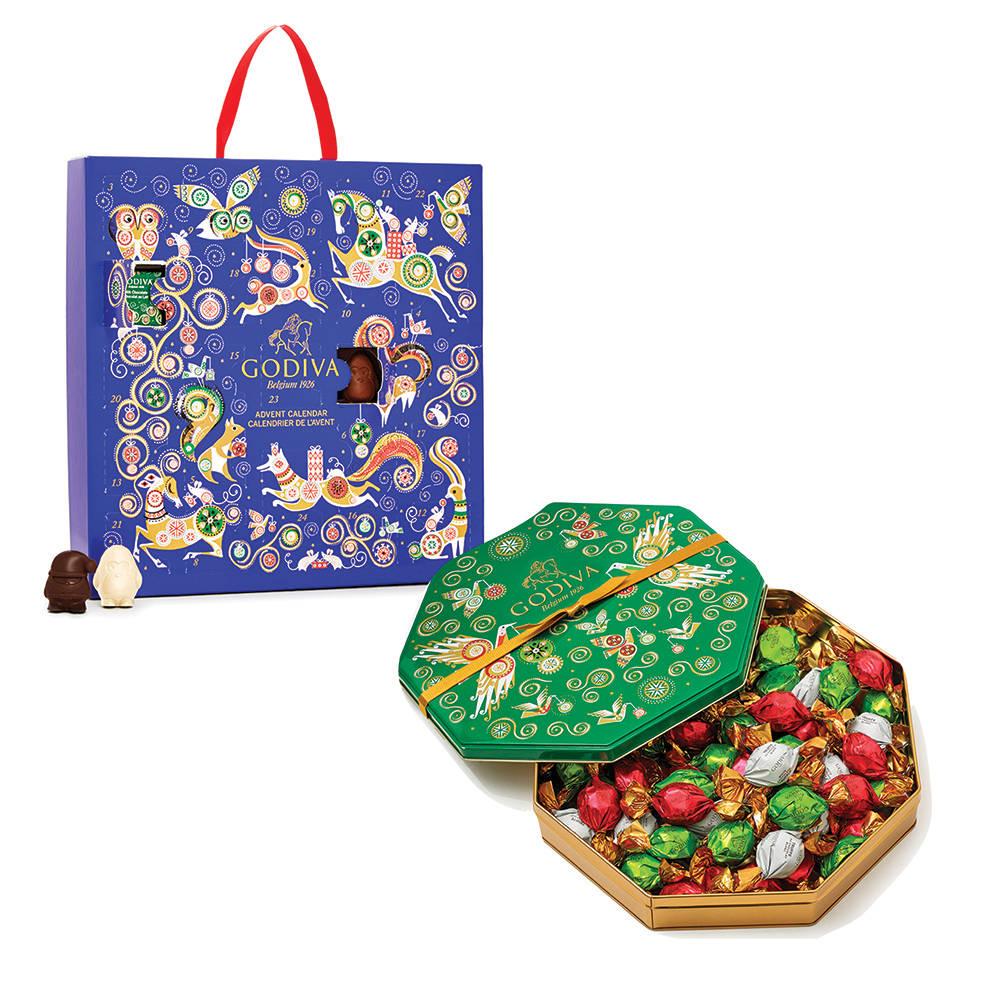 Godiva Advent Calendar.Holiday Chocolate Advent Calendar 2017 24 Pc And Limited Edition