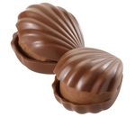 Milk Chocolate Hazelnut Oyster Chocolate Piece