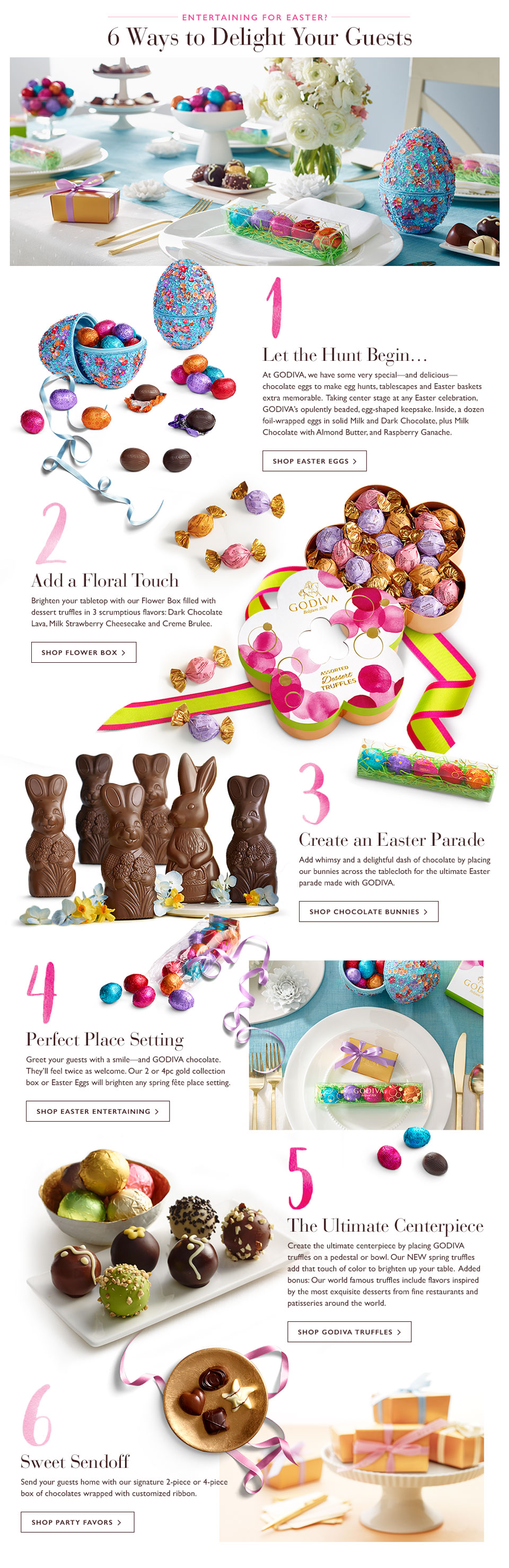 Decorate Your Easter Table with GODIVA Chocolate Eggs and Bunnies