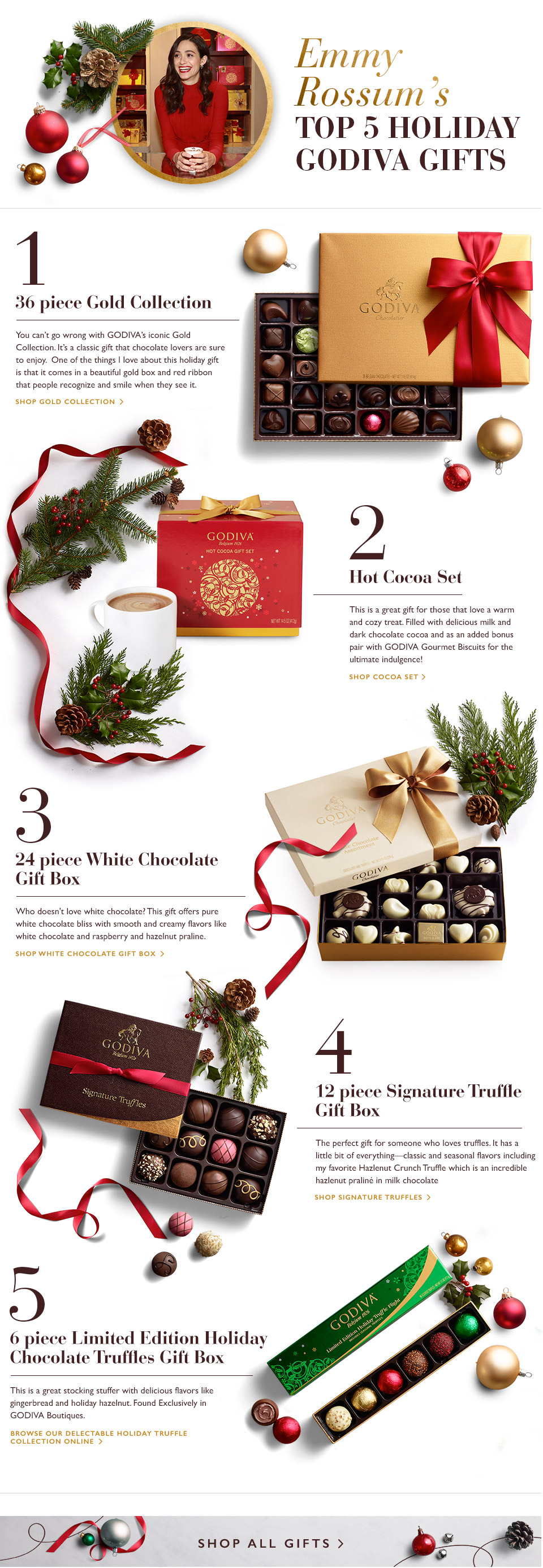 Emmy Rossum's Top 5 Holiday Gifts from GODIVA