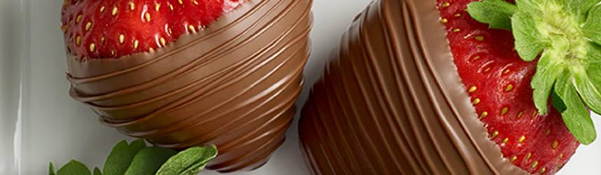 Milk chocolate covered strawberries