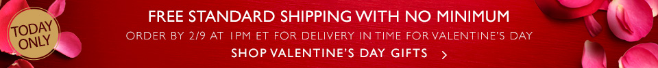 7 Days Left to Shop for Valentine's Day Gifts with Free Standard Shipping