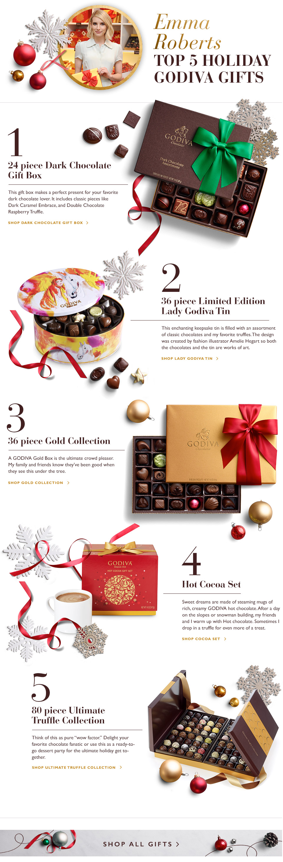 Emma Robert's Top 5 Holiday Gifts from GODIVA