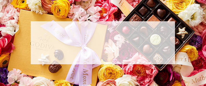 Shop GODIVA chocolate gold gift boxes for Mother's Day
