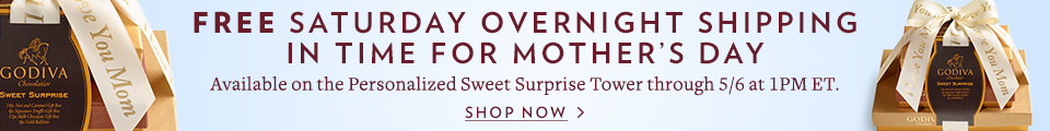 FREE OVERNIGHT SHIPPING ON SWEET SURPRISE TOWER