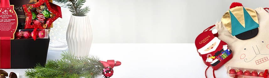 Gift Basket, Cherry Cordials, Santa Gift Box and Nutcraker Backpack